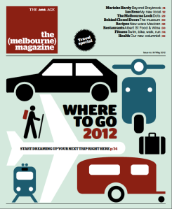 The May 2012 cover of the (melbourne) magazine - Travel special