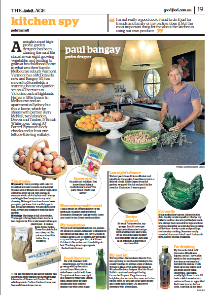 My kitchen Spy with garden designer, Paul Bangay