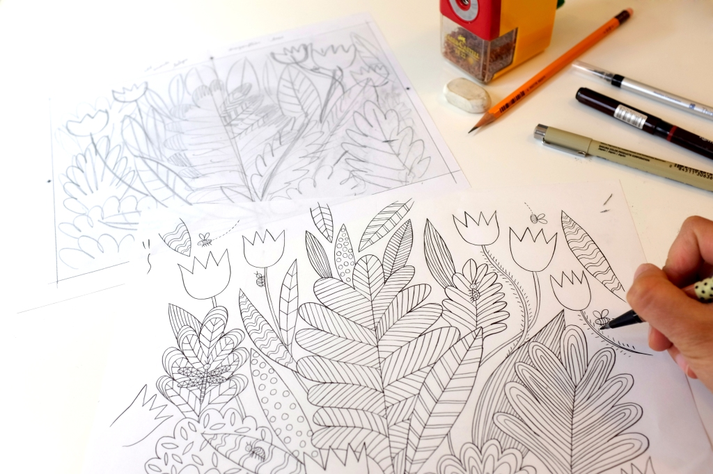 Mind The Lines And Draw On Art Therapy In Mindfulness Colouring Book