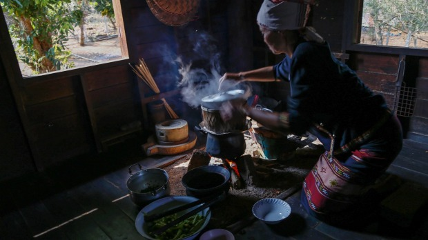 Hot stuff: Cooking with charcoal. Photo: Peter Barrett.