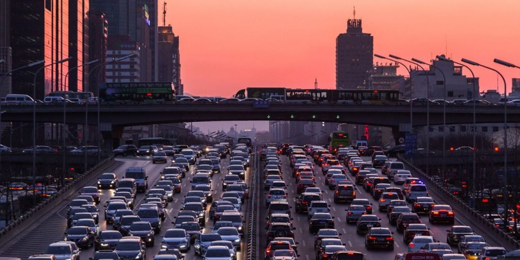 Peak-hour congestion returned at heavier levels than in pre-COVID times as Beijing emerged from lockdown. Image: Getty